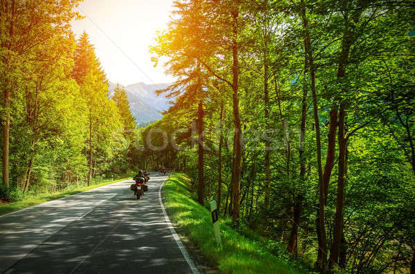 Biker on mountainous road Stock photo © Anna_Om