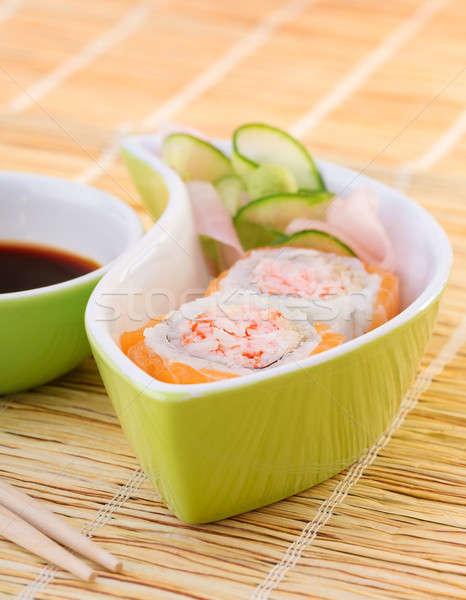 Finom szusi luxus japán étterem drága Stock fotó © Anna_Om