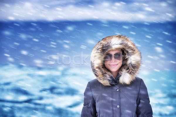Happy woman on winter vacation Stock photo © Anna_Om