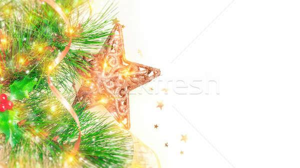 Beautiful Christmas border Stock photo © Anna_Om