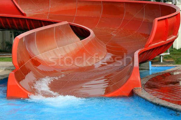 água parque deslizar parque aquático verão diversão Foto stock © Anna_Om
