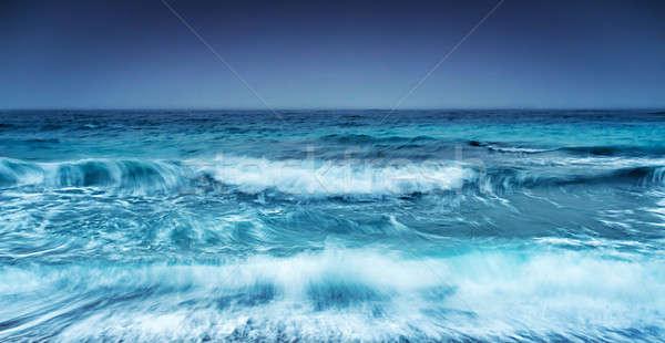 劇的な 嵐の 海景 抽象的な 自然 天気 ストックフォト © Anna_Om