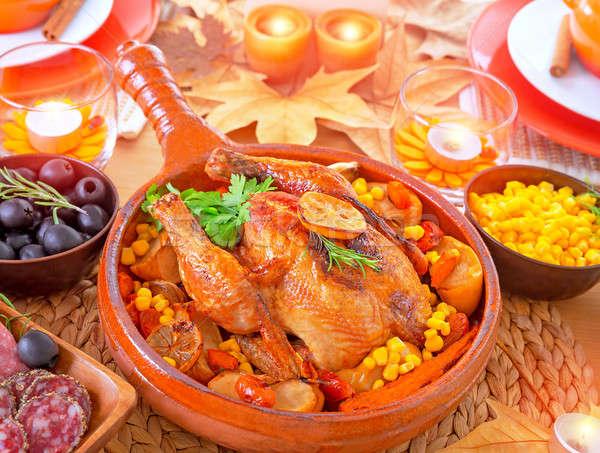 Thanksgiving day dinner Stock photo © Anna_Om