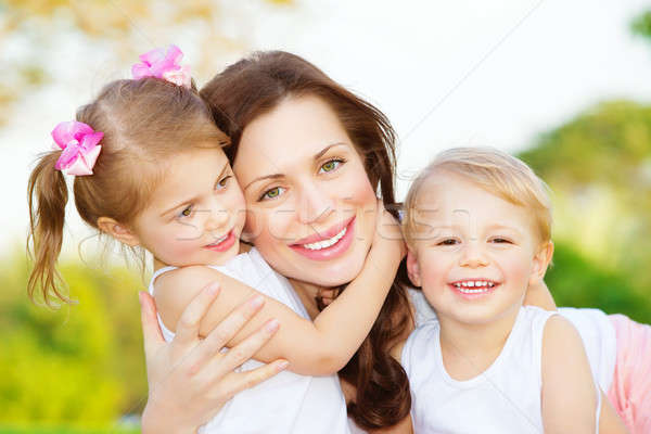 Mother with two kids Stock photo © Anna_Om