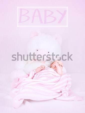Cute newborn girl Stock photo © Anna_Om