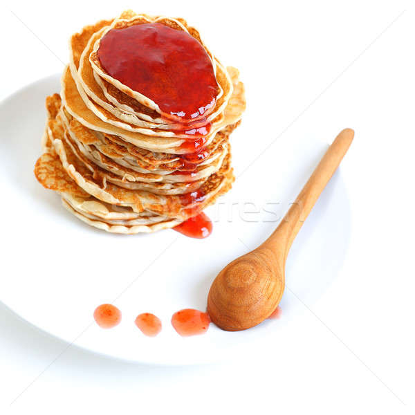 Tasty pancakes with syrup Stock photo © Anna_Om