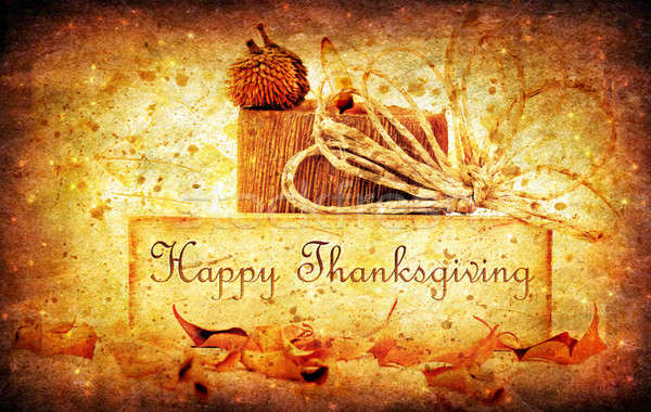 Stock photo: Thanksgiving holiday background