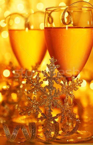 Romantikus ünnep ünneplés ital karácsony új év Stock fotó © Anna_Om