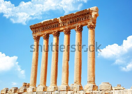 Stock photo: Column ruins