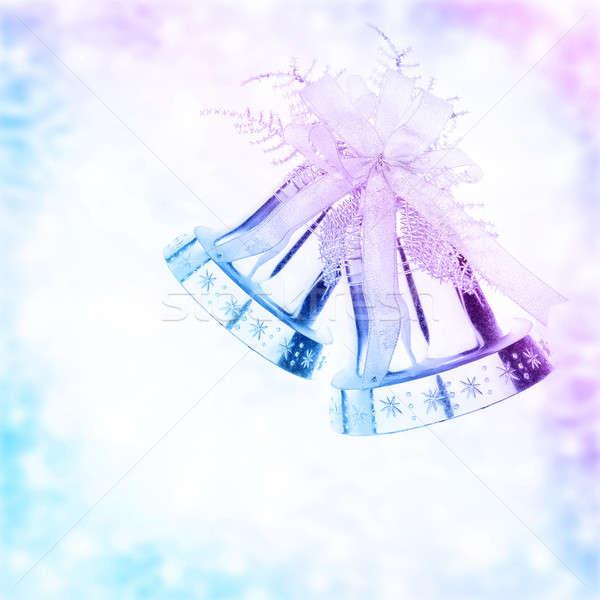 クリスマス 鐘 国境 銀 クリスマスツリー 飾り ストックフォト © Anna_Om