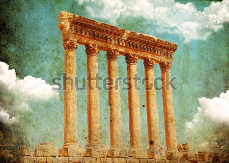 Temple of Jupiter ancient roman city Stock photo © Anna_Om