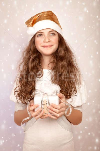 Sevimli yardımcı güzel genç kız Stok fotoğraf © Anna_Om