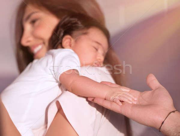 Szczęśliwy rodzicielstwo cute godny podziwu córka Zdjęcia stock © Anna_Om