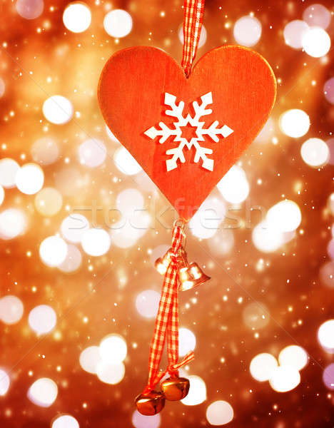 Heart shaped decor for Christmas Stock photo © Anna_Om