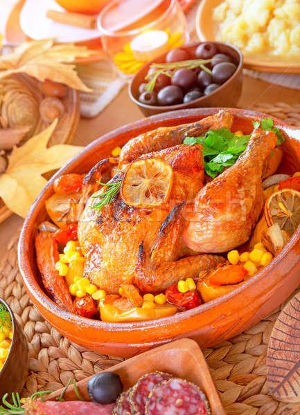 Oven roasted Thanksgiving Turkey  Stock photo © Anna_Om