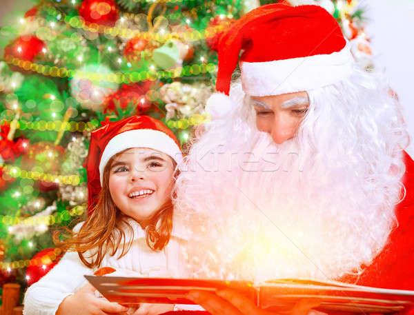 Christmas eve with Santa Claus Stock photo © Anna_Om