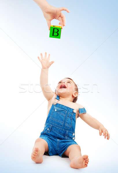 Happy child having fun Stock photo © Anna_Om