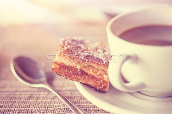 Stock fotó: Kávészünet · klasszikus · stílus · fotó · kávéscsésze · kicsi