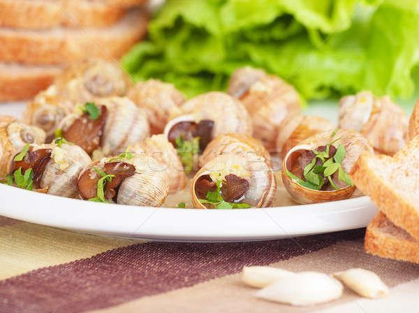 Saboroso preparado tabela cozinha caro francês Foto stock © Anna_Om