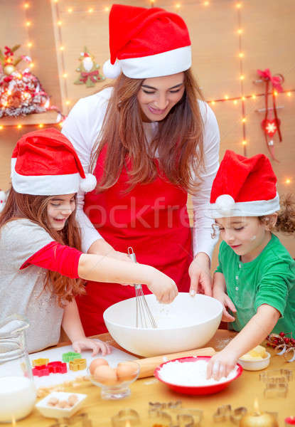 Happy preparation for Christmas holidays Stock photo © Anna_Om