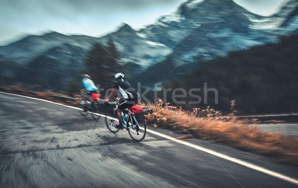 Stock photo: Cycling competition