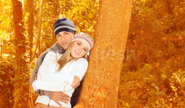 Loving couple in forest Stock photo © Anna_Om