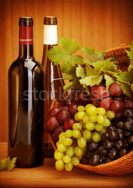 Grape wine still life Stock photo © Anna_Om