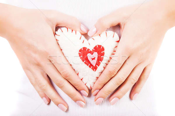 Heart toy in hands Stock photo © Anna_Om