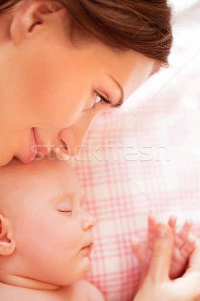 Cute baby sleeping Stock photo © Anna_Om
