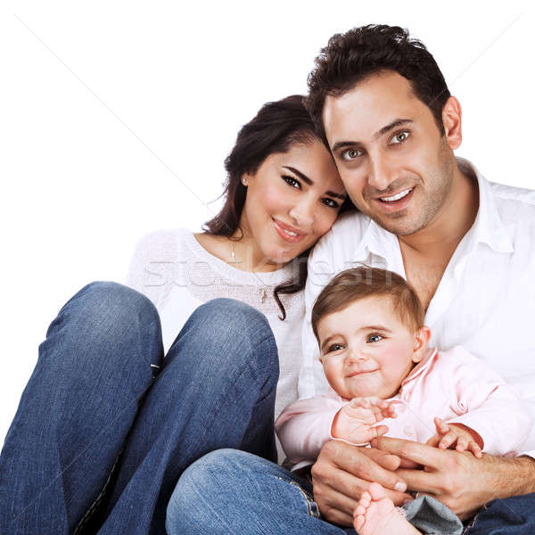 Happy family portrait Stock photo © Anna_Om