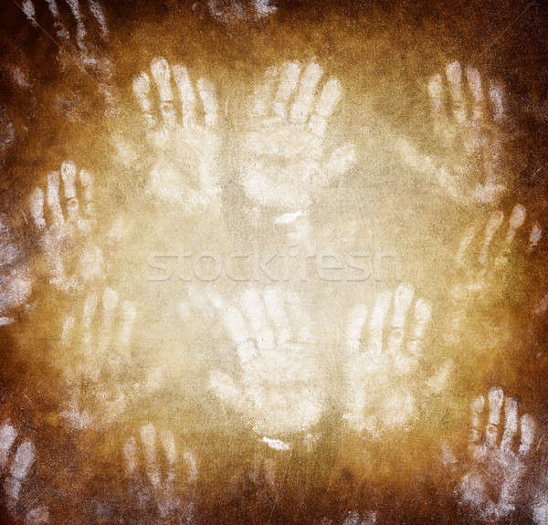 Imprint of human hands Stock photo © Anna_Om