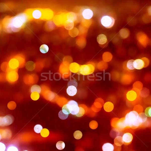 Christmas background of blur bokeh lights Stock photo © Anna_Om