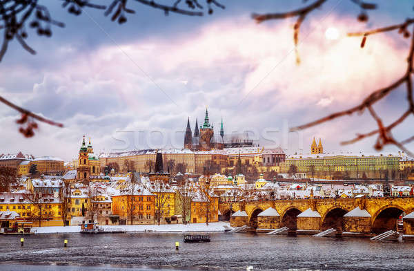 Beautiful Prague in winter Stock photo © Anna_Om