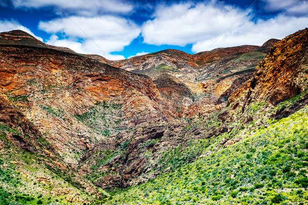 Dél-afrikai hegyek gyönyörű tájkép légifelvétel afrikai Stock fotó © Anna_Om