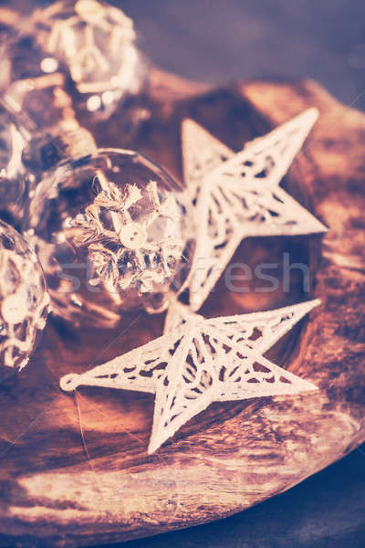 Vintage Christmas decorations Stock photo © Anna_Om