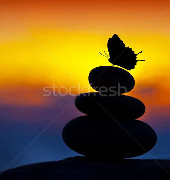 Stock photo: Spa stones balance