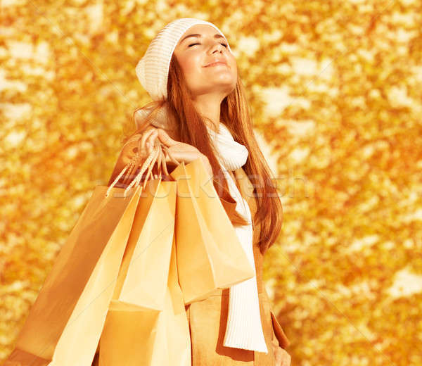Happy woman with shopping bags Stock photo © Anna_Om