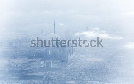 Dubai şehir merkezinde sis güzel kapalı Stok fotoğraf © Anna_Om