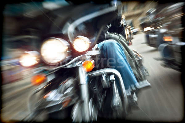 Abstract slow motion, bikers riding motorbikes Stock photo © Anna_Om