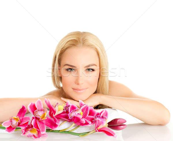 Woman enjoying dayspa Stock photo © Anna_Om