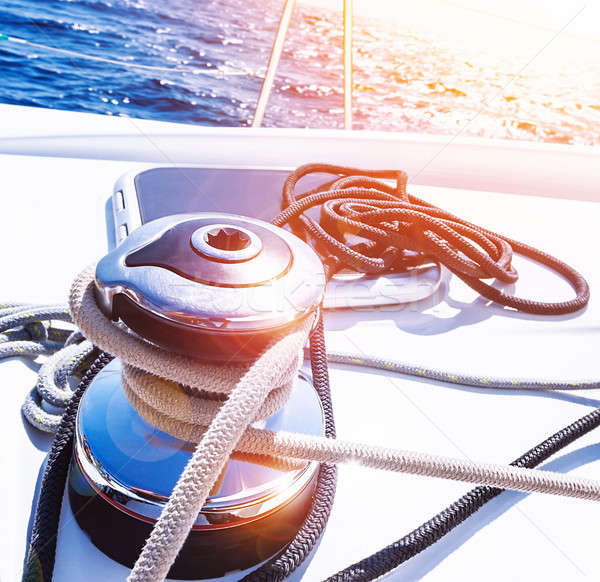Crank handle of sailboat Stock photo © Anna_Om