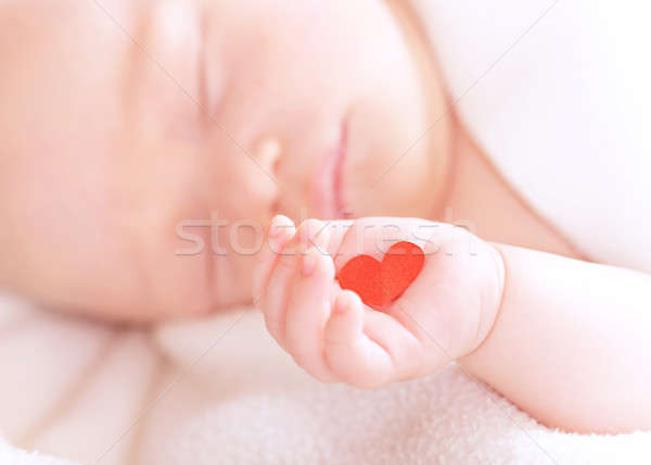 Cute baby napping Stock photo © Anna_Om