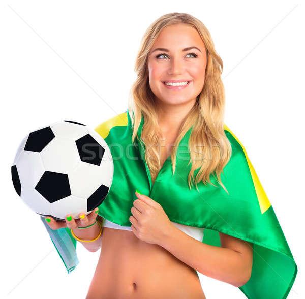 Stock photo: Happy football fan