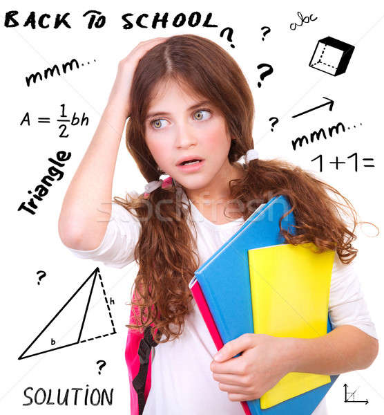Difficult exam of geometry Stock photo © Anna_Om