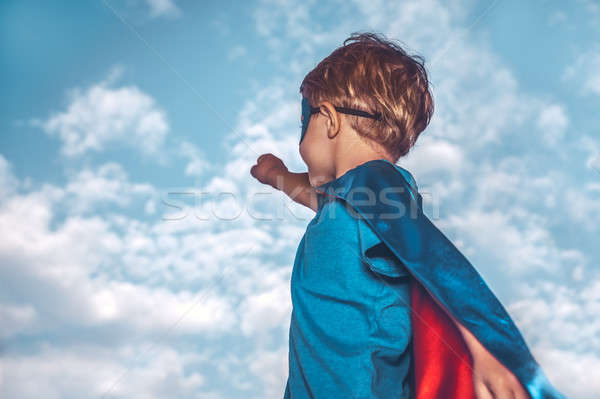 Little superman Stock photo © Anna_Om
