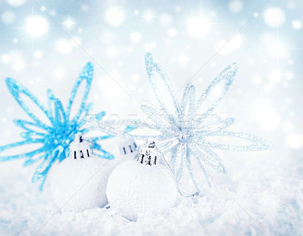 Christmas decoration background Stock photo © Anna_Om