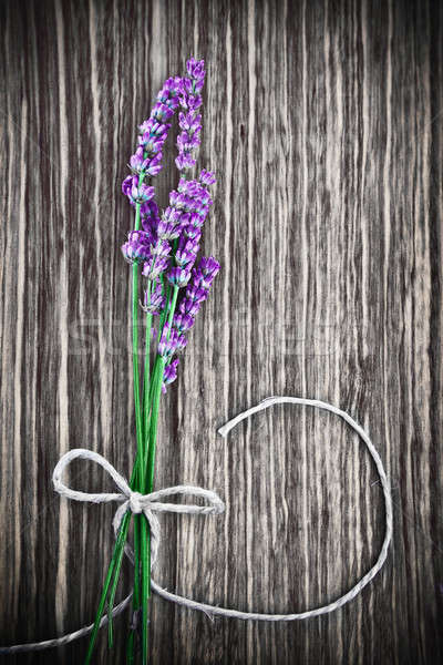 Lavender flower on wooden background Stock photo © Anna_Om