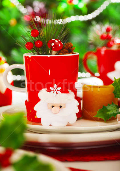 Christmastime decoration for dinner Stock photo © Anna_Om