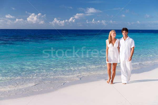 романтические медовый месяц счастливым пару ходьбе красивой Сток-фото © Anna_Om