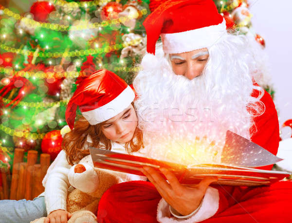 Christmas eve with Santa Claus Stock photo © Anna_Om